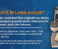 Revizia gratuita in luna August 2015